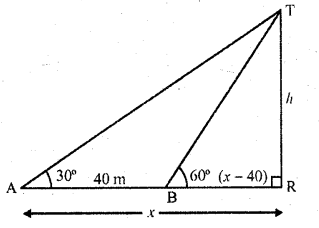 RD Sharma Class 10 Solutions Chapter 12 Heights and Distances Ex 12.1 - 23