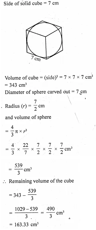 RD Sharma Class 10 Solutions Chapter 14 Surface Areas and Volumes Ex 14.2 29