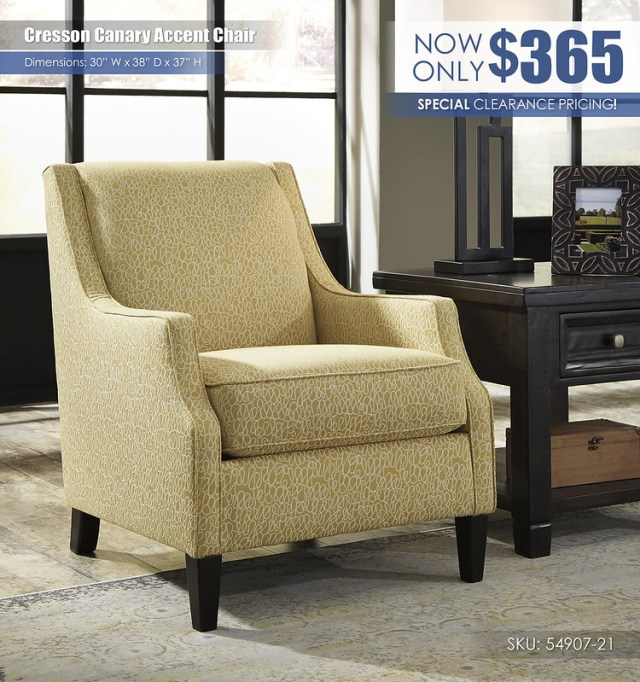 Cresson Canary Accent Chair_54907-21