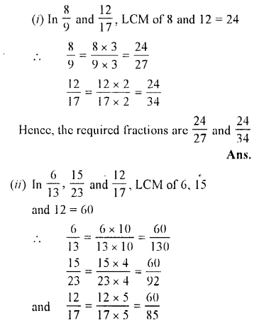 Selina Concise Maths class 7 ICSE Solutions - Fractions (Including Problems)-B3.