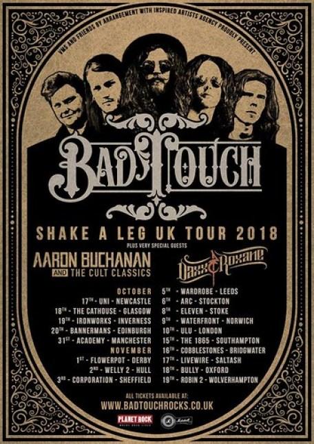 Bad Touch - Shake a Leg Tour Poster