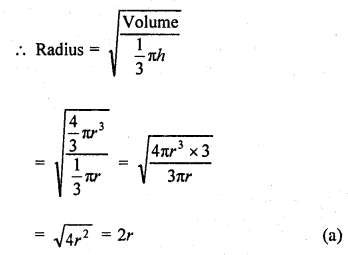 RD Sharma Class 9 Solutions Chapter 21 Surface Areas and Volume of a Sphere MCQS 11a