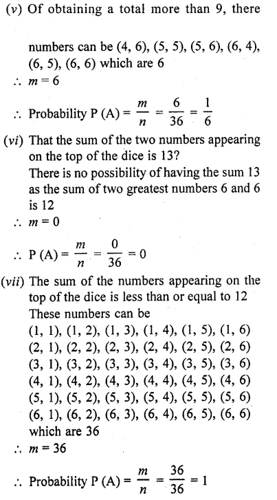 RD Sharma Class 10 Solutions Chapter 16 Probability Ex 16.1 54