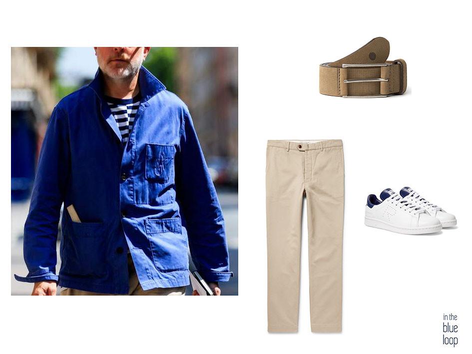 Look casual con cinturón Aónaga de blue hole, chinos y sneakers blancas 5 piezas clásicas que puedes llevar a cualquier edad