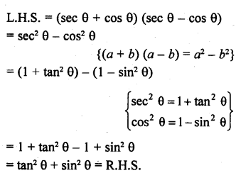 RD Sharma Class 10 Solutions Chapter 11 Trigonometric Identities Ex 11.1 - 17a