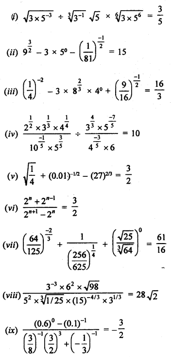 RD Sharma Class 9 Solutions Chapter 2 Exponents of Real Numbers Ex 2.2 - 3