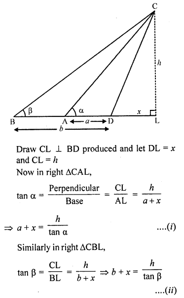 RD Sharma Class 10 Solutions Chapter 12 Heights and Distances Ex 12.1 - 65a