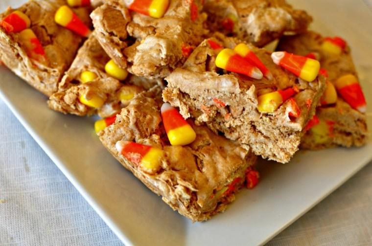 Nutter Butter Candy Corn Bars