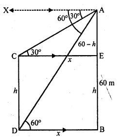 RD Sharma Class 10 Solutions Chapter 12 Heights and Distances Ex 12.1 - 53