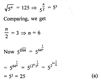 RD Sharma Class 9 Solutions Chapter 2 Exponents of Real Numbers MCQS - 32a