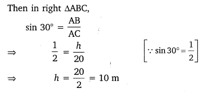 NCERT Solutions for Class 10 Maths Chapter 9 Some Applications of Trigonometry 2