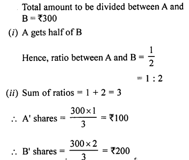 Selina Concise Mathematics class 7 ICSE Solutions - Ratio and Proportion (Including Sharing in a Ratio) -a19