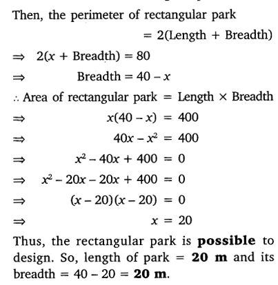 NCERT Solutions for Class 10 Maths Chapter 4 Quadratic Equations 47