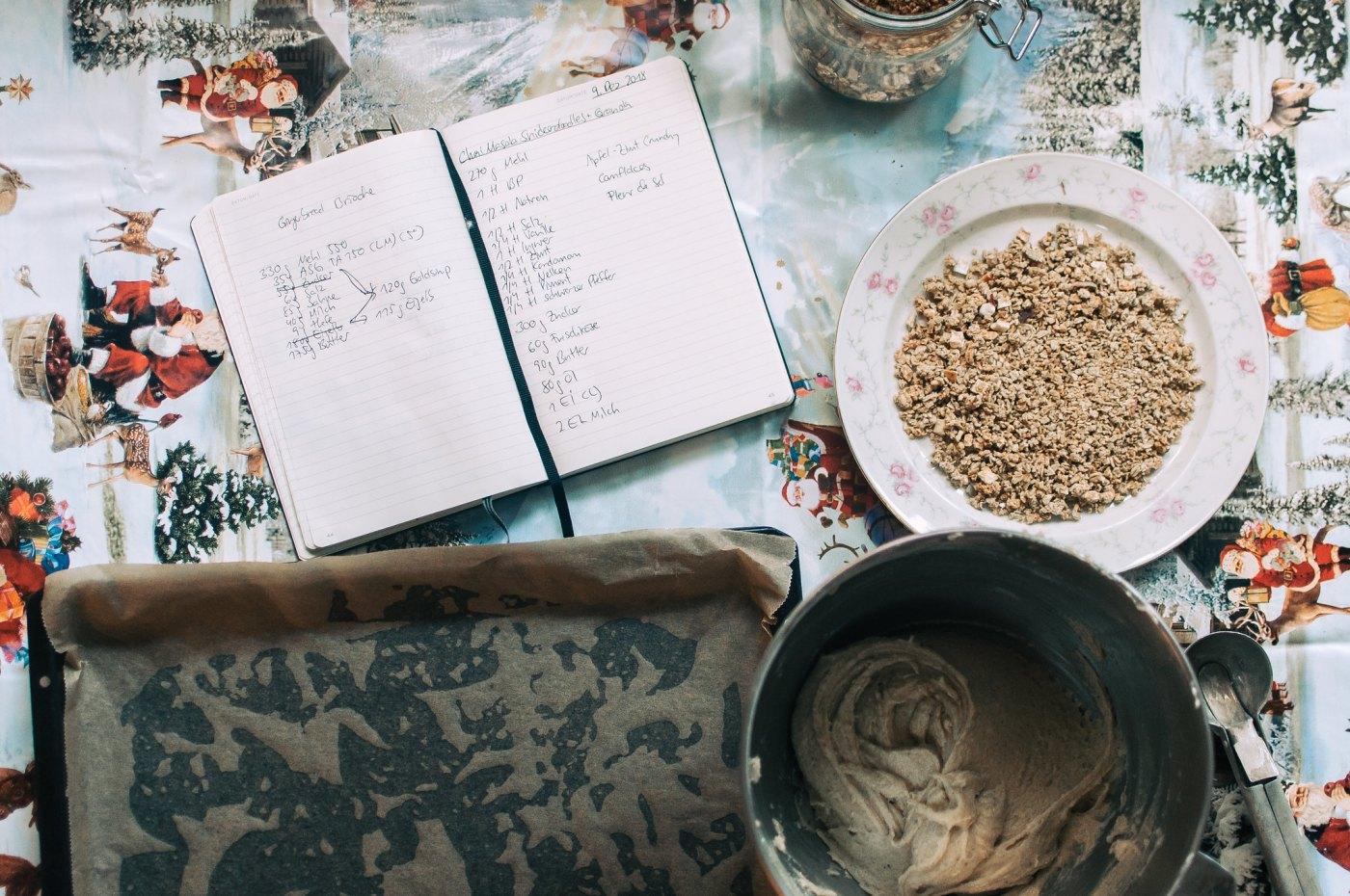 chai masala snickerdoodles with apple spice granola