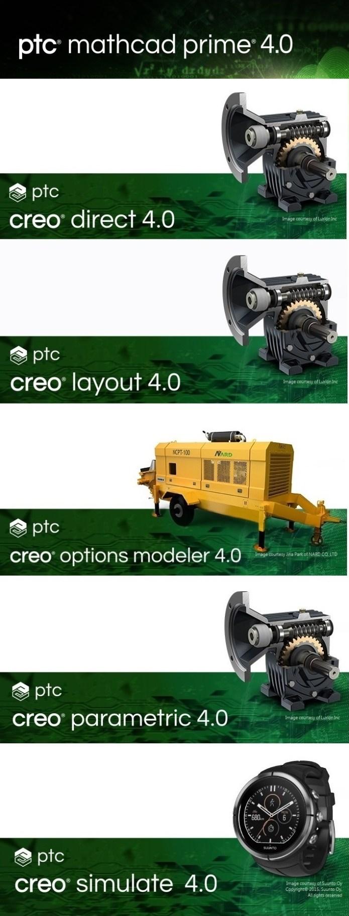 PTC Creo 4.0 M070 + HelpCenter Win64 full license