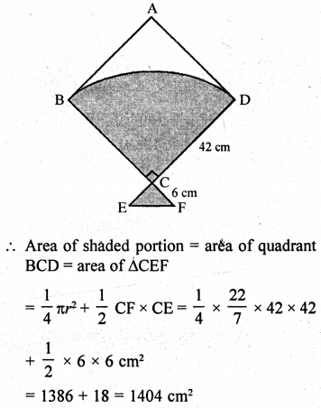 RD Sharma Class 10 Solutions Chapter 13 Areas Related to Circles Ex 13.4 - 46a