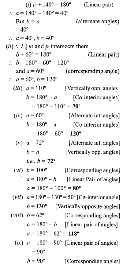 Selina Concise Mathematics Class 6 ICSE Solutions - Properties of Angles and Lines (Including Parallel Lines)-b2as