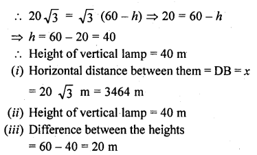 RD Sharma Class 10 Solutions Chapter 12 Heights and Distances Ex 12.1 - 53aa