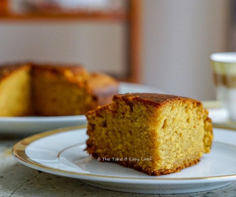 Whole Wheat Jaggery Cake