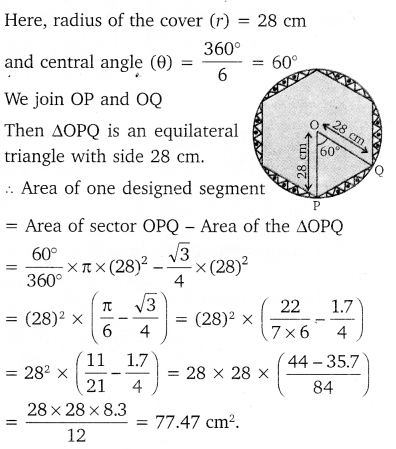 NCERT Solutions for Class 10 Maths Chapter 12 Areas Related to Circles 26