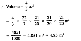 Class 9 RD Sharma Solutions Chapter 21 Surface Areas and Volume of a Sphere