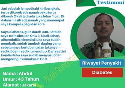 testimoni qnc jelly gamat atasi penyakit diabetes dan luka diabetes