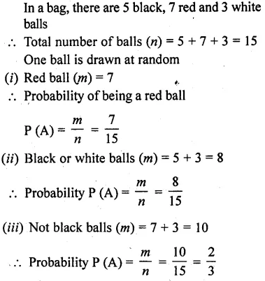 Maths RD Sharma Class 10 Solutions Chapter 13 Probability