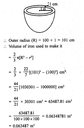 RD Sharma Class 9 Solutions Chapter 21 Surface Areas and Volume of a Sphere Ex 21.2 22