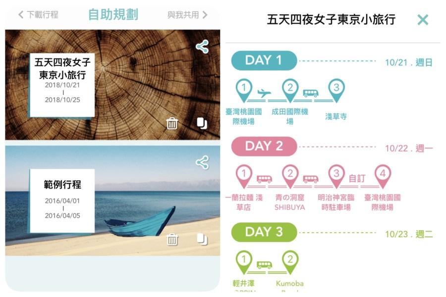 app,TripPacker,交通工具時刻表,地鐵周遊券,地鐵換乘路線,旅遊蹤,日本旅遊,自由行,路線規劃 @VIVIYU小世界