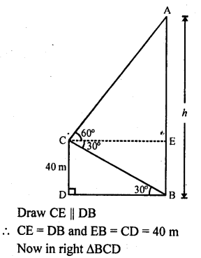 RD Sharma Class 10 Solutions Chapter 12 Heights and Distances Ex 12.1 - 41