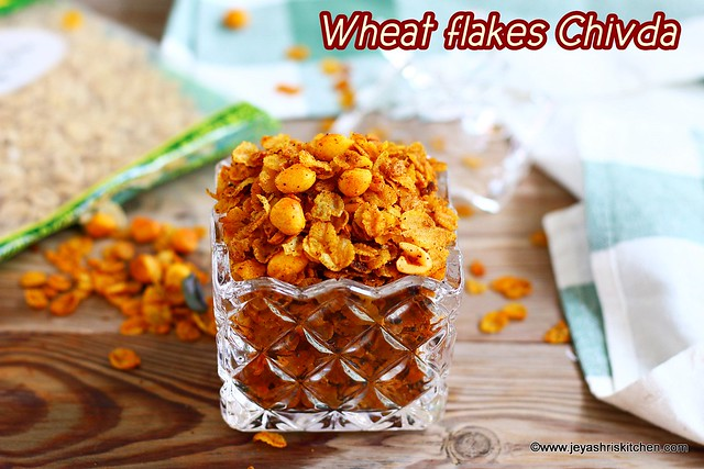 Wheat flakes chivda recipe