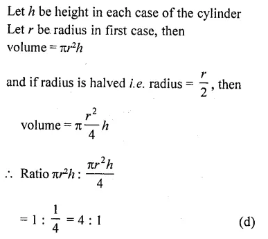 RD Sharma Class 10 Solutions Chapter 14 Surface Areas and Volumes MCQS 41