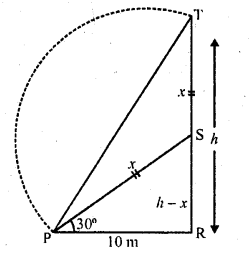 RD Sharma Class 10 Solutions Chapter 12 Heights and Distances Ex 12.1 - 36