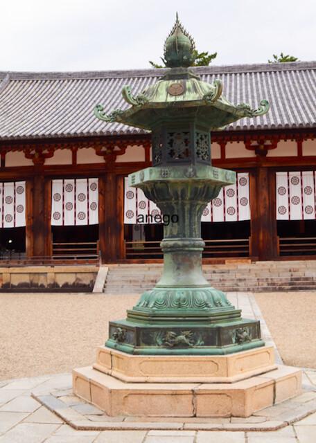 法隆寺 灯籠