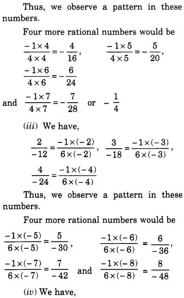 NCERT Solutions for Class 7 Maths Chapter 9 Rational Numbers 8
