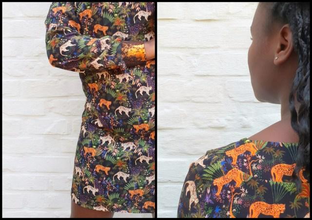 jungle dress (collage)