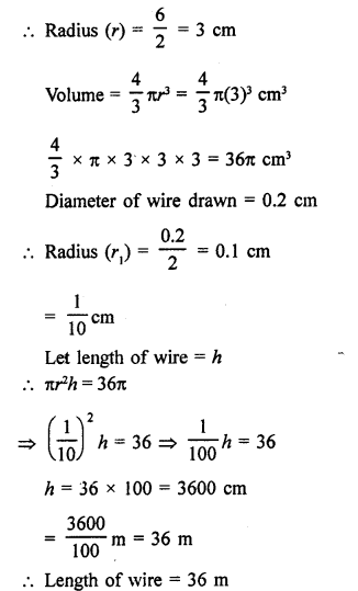 RD Sharma Class 9 Solutions Chapter 21 Surface Areas and Volume of a Sphere Ex 21.2 14