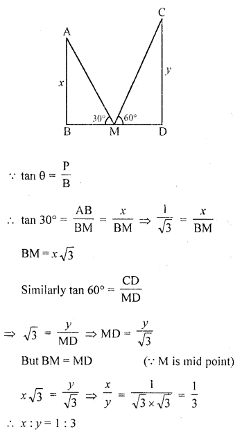 RD Sharma Class 10 Solutions Chapter 12 Heights and Distances VSAQS - 7