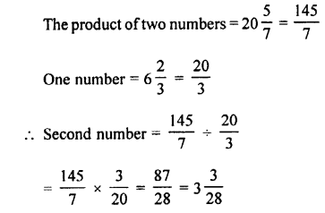 Selina Concise Maths class 7 ICSE Solutions - Fractions (Including Problems)-C19