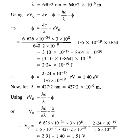 NCERT Solutions for Class 12 physics Chapter 11 Dual Nature of Radiation and Matter.42