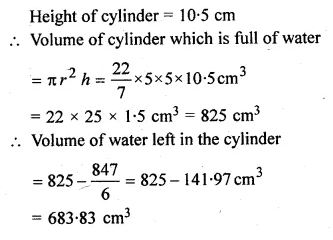 ML Aggarwal Class 10 Solutions for ICSE Maths Chapter 18 Mensuration Chapter Test 24a