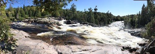Lake Superior Park Sand river waterfall panorama
