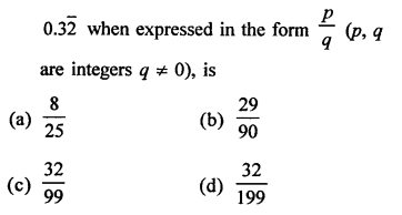 RD Sharma Class 9 Solutions Chapter 1 Number Systems - 1.mcq .15