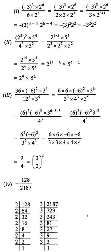 Selina Concise Maths class 7 ICSE Solutions - Exponents (Including Laws of Exponents)-4b....
