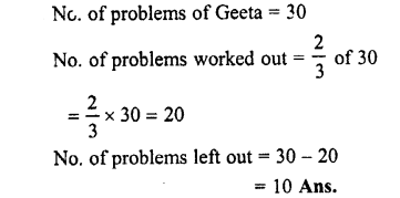 Selina Concise Maths class 7 ICSE Solutions - Fractions (Including Problems)-E7
