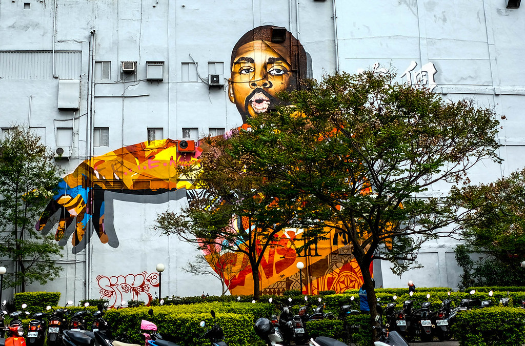 Huge mural in Taipei