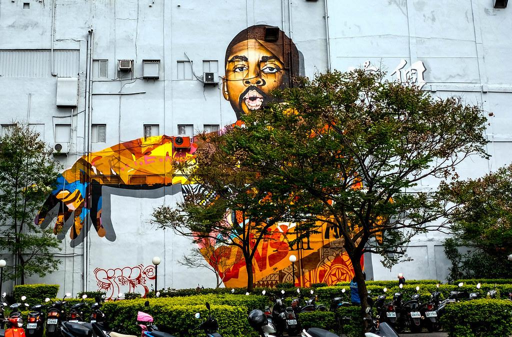 Huge mural in Taipei