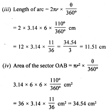 RD Sharma Class 10 Solutions Chapter 13 Areas Related to Circles Ex 13.2 - 25a