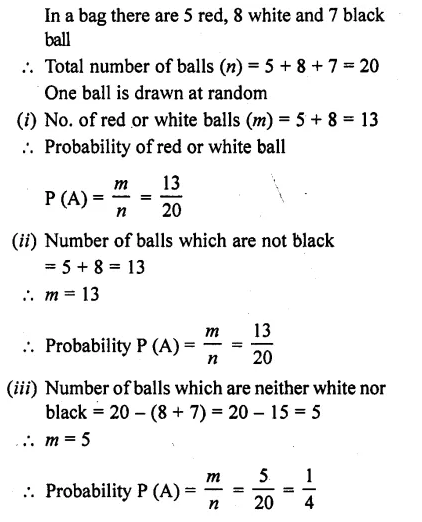 RD Sharma Class 10 Solutions Chapter 16 Probability Ex 16.1 26