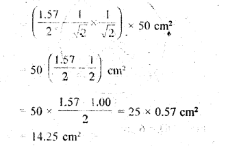 RD Sharma Class 10 Solutions Chapter 13 Areas Related to Circles Ex 13.3 - 4a